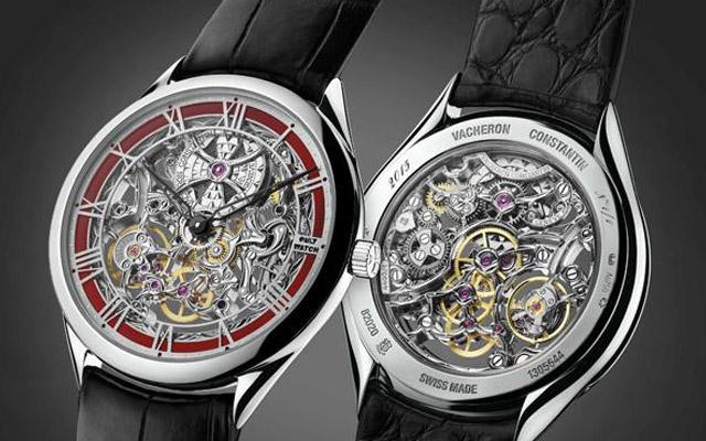 江诗丹顿手表维修服务中心的手表展示